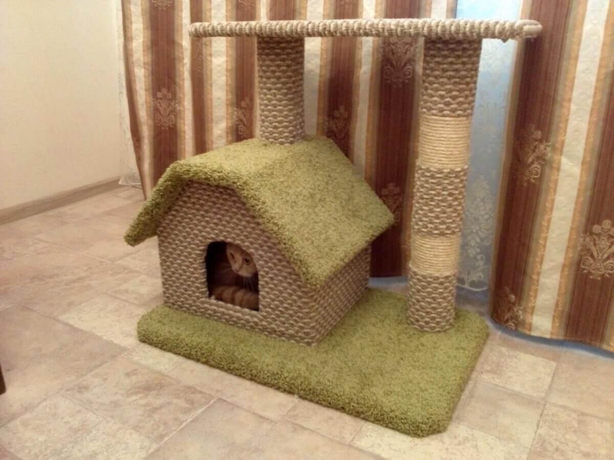 Ткань для обивки кошачьего домика