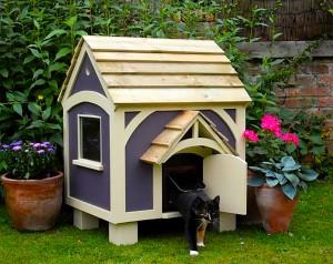 Домик для кошки на улице