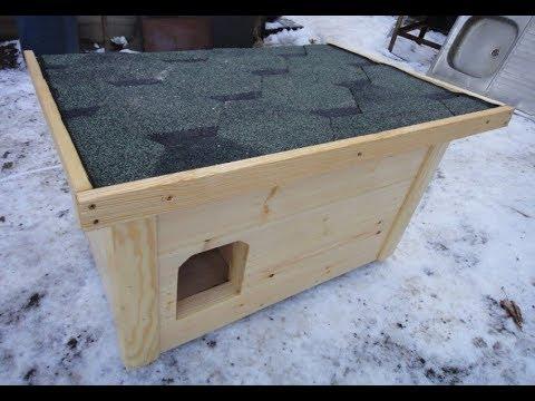 Зимний домик из дерева